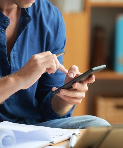 Texting at work